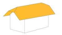 Střecha polovalbová