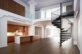 Ocelové vřetenové schodiště