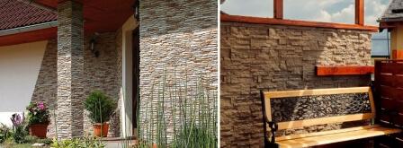 Kamenné obklady fasády dřevostavby