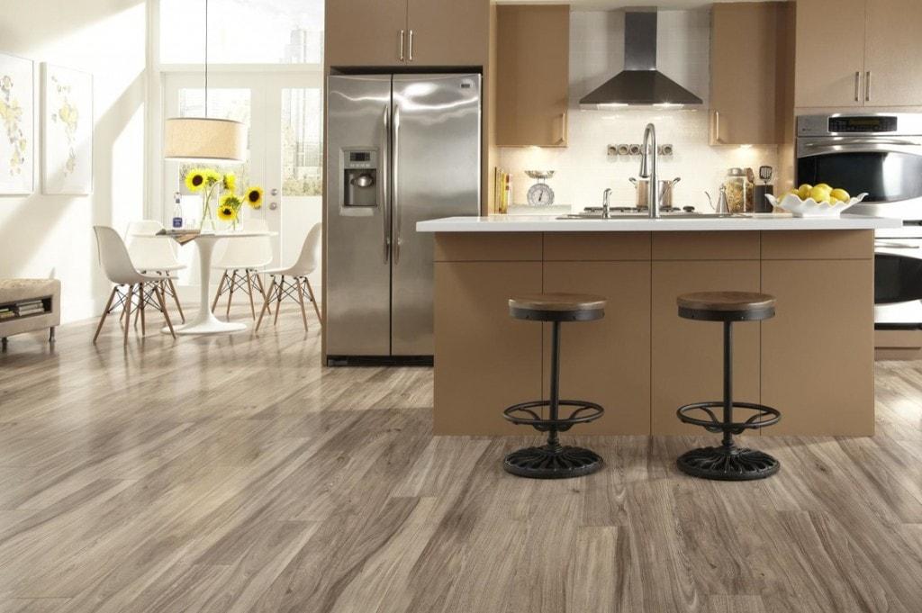 měkčené PVC podlaha do kuchyně
