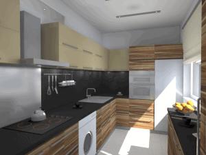 Vizualizace návrhu kuchyně