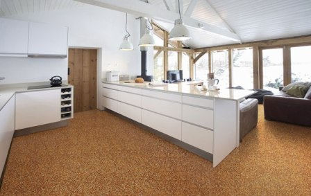 Použití kamínkové podlahy v interiéru