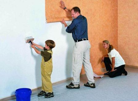 Tapetování se může stát zábavou pro celou rodinu