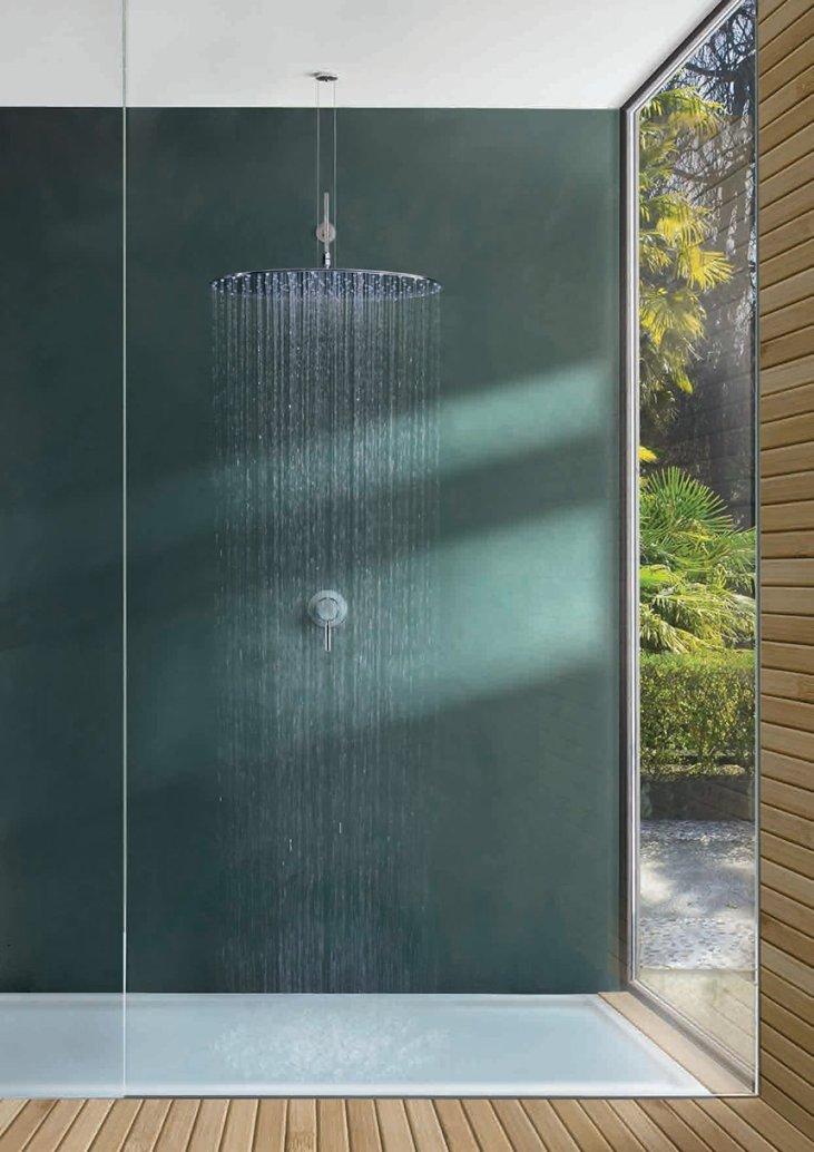 Sprchová růžice s velkým poloměrem