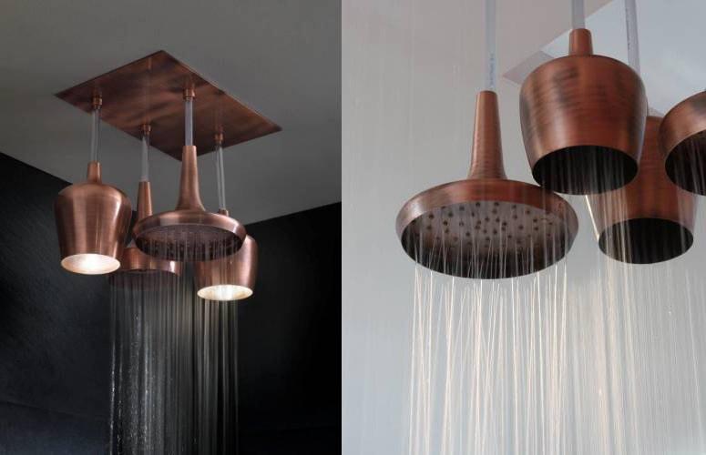 Svítící sprchová hlavice