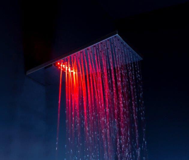 LED podsvícená sprchová hlavice