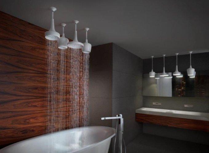 Designová sprchová hlavice stropní