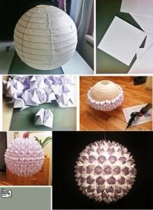Výroba lustru z origami