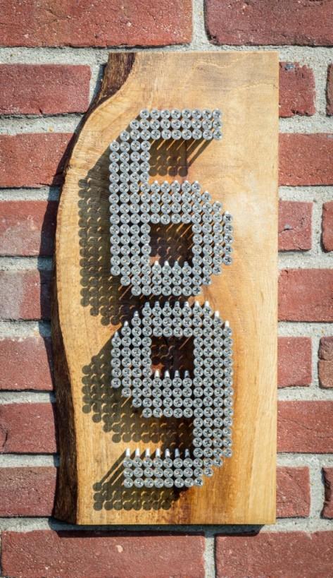 DIY inspirace domovní číslo
