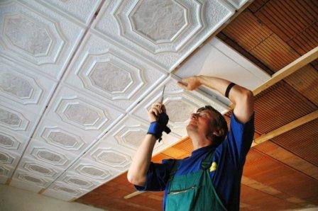 Instalace polystyrenového podhledu