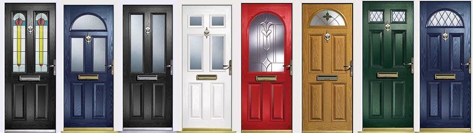 barevná škála vchodových dveří je široká