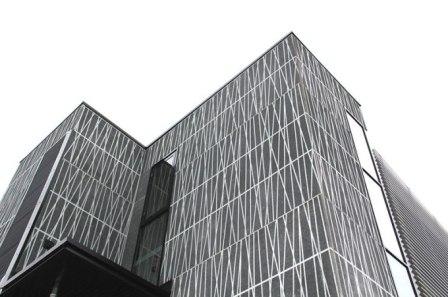 Použití grafického betonu na fasádě