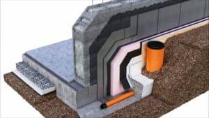 Jak zhotovit drenážní potrubí drenáž základu rodinného domu