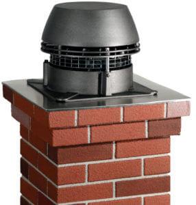 Aplikace komínového ventilátoru Tricamino