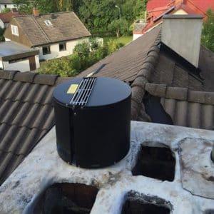 Instalace komínového ventilátoru Draftbooster