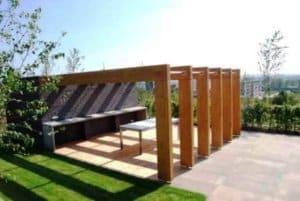 Moderní designová zahradní pergola