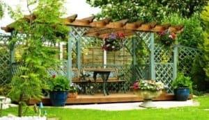 stavebnicová zahradní pergola svépomocí