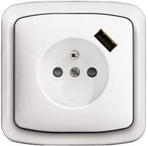 Zásuvka ABB Tango s USB nabíječkou