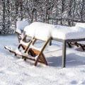 zahradní nábytek zima podzim