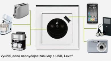 Zásuvka do zdi s USB nabíječkou 12V