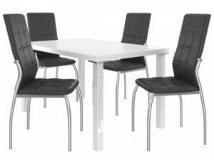 Kovové jídelní židle v sestavě