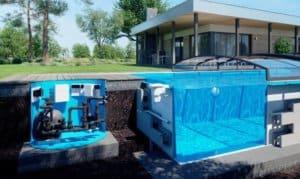 zapuštěný bazén technologická šachta albixon