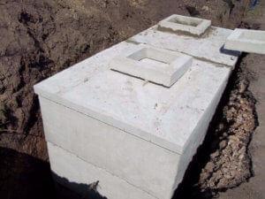 Betonová akumulační nádrž na dešťovou vodu