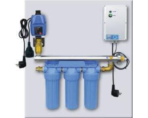 Úpravna vody - filtrace a UV lampa s řídicí jednotkou