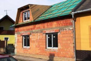 Rekonstrukce podkroví - stavba vikýře - vikýř lichoběžníkový