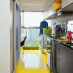 Marmoleum v kuchyni - inspirace
