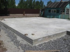 Plovoucí základová betonová deska na pěnovém skle