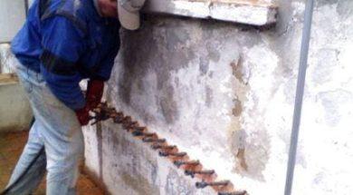 Sanace zdiva – chemická tlaková injektáž