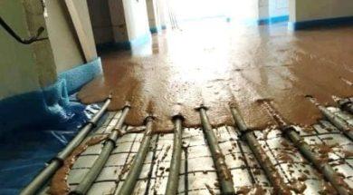 postup lití anhydritové a betonové lité podlahy