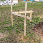 stavební rohová lavička - jak vytyčit stavbu svépomocí