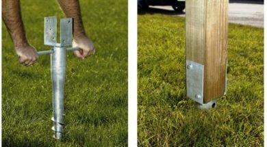 Instalace zemních vrutů pro stavbu zahradní pergoly