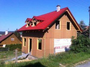 Montované domy - realizace firmy J. Group
