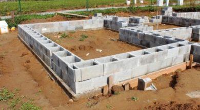Základy rodinného domu ze ztraceného bednění