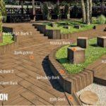 Betonová dlažba Natural řady Bark nabízí mnoho doplňků, včteně palisád, žlabů a schodů