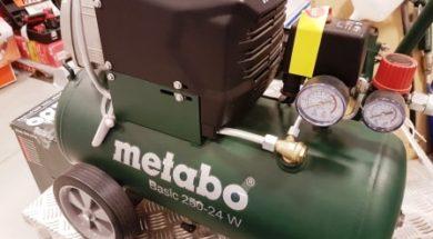Pístový kompresor s tlakovou nádobou o objemu 24 l