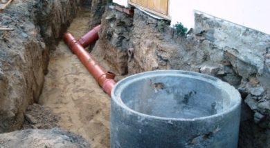 Stavba splaškové kanalizace