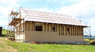 Dřevostavba s nadkrokevní izolací
