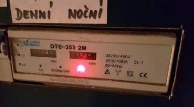 Elektroměr – nízký a vysoký tarif