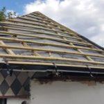 Rekonstrukce domu - stavba nové dvouplášťové střechy