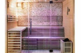 Atypická sauna na míru s osvětlením typu hvězdné nebe