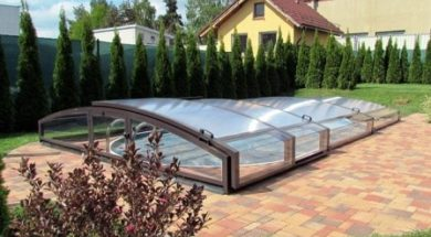 Zastřešení bazénu udrží vodu déle teplou