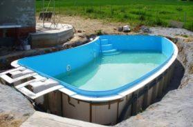 Výstavba zapuštěného bazénu