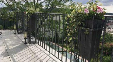 Kované zábradlí na terasu nebo balkon