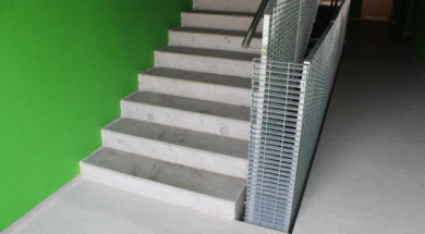 Pohledový beton lze využít například pro stavbu schodiště