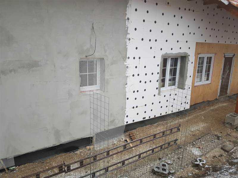 Běžný bílý polystyren na zateplení fasády - expandovaný polystyren EPS typ F