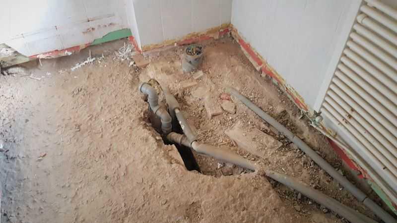Rekonstrukce koupelny - rekonstrukce odpadu